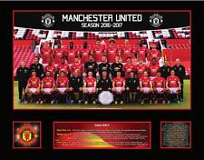 New Manchester United 2016/17 Squad Memorabilia Framed