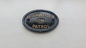 Rothweiler on patrol  ,guard dog,muzzle,dog bed,dog box