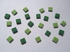200 Green Mix Squares Pixels Mine Craft Style Cake Topper Sugar Decoration- 1cm