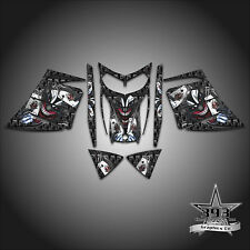 SKI-DOO REV MXZ SNOWMOBILE SLED WRAP GRAPHICS DECAL KIT 03-07 EVIL JOKER BLACK