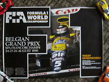 Formula One / Spa Francorchamps / Belgium / Fia Poster. 1990 / Williams