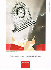 PUBLICITE ADVERTISING 074  1991  BACCARAT   pendulette ART-DECO