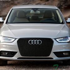 Topline For 2013-2016 Audi A4 Rs Honeycomb Mesh Front Hood Bumper Grille - Black (Fits: Audi)