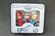"Orange County Chopper OCC Pez Candy Dispenser Box Set 3 Sealed Tin 2006 8""x 7"""