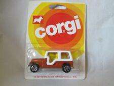 1978 Corgi Toys Bronze/Red Jeep CJ-6 w/Gold Eagle Decal #12 Gt Britain (NOC)