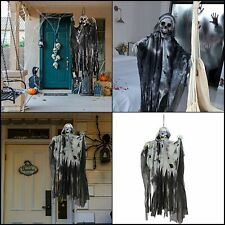 Halloween 36inc Animated Hanging Grim Reaper Creepy Sounds And Moving Head Props