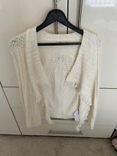 Hollister ladies off white cardigan size S