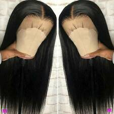 Glueless 13X6 Lace Front Wigs Peruvian Virgin Human Hair Full Wig Straight Black