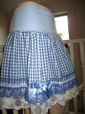 Cosplay Skirt Lagenlook Blue white red green black Check Lace Lolita fun Party