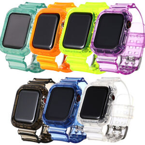 Watch Band Strap Silicone TPU Clear For Apple Watch Series 6/5/4/3/2/1 iwatch SE