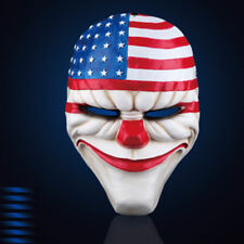 Mascara de PAYASO Halloween Bandera EEUU PVC Terror carnaval Fiestas Circo