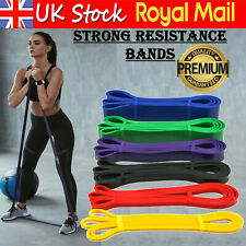 Strong Loop Resistance Bands Heavy Duty Exercise Sport Latex Fitness Gym Yoga UK