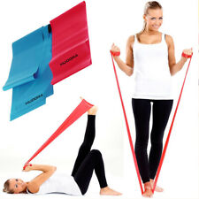 2 Fasce Elastiche In Latex 150cm Per Esercizi Fisici Yoga Ginnastica Palestra