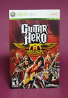 INSTRUCTION BOOKLET/MANUAL ONLY FOR GUITAR HERO AEROSMITH XBOX 360 (NO GAME) !!⭐