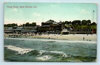 Santa Monica, CA - EARLY 1900s VIEW OF OCEAN FRONT & BOWLING PAVILION - POSTCARD