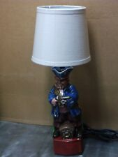 Custom made pirate table lamp, one of a kind, locally cast in Spokane, Wa.