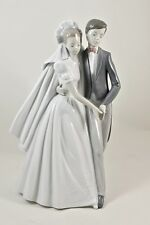 One Lladro Nao spain 1997 wedding dance #1247 bride groom mint