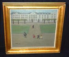 1943 Belgian Oil Painting Jeux D'Enfants du Parc by Émile Mahy (1903-1979)(Sto)