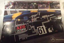 Collectable 1988 AEG Sauber Mercedes C9 Group C Sportscar Poster **Rare**