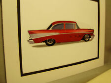 1957 Chevrolet Bel Air   artist Auto Museum Full color Illustrated not photo
