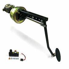 Universal adj FW 8 Dual Brake Pedal kit Adj Disk/DrumSm Oval Blk Pad hot rods