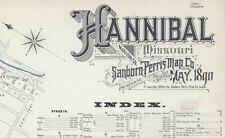 Hannibal, Missouri~Sanborn Map©~sheets~in color 1890~27 maps on a Cd
