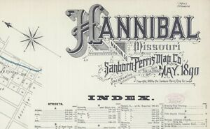 Hannible, Missouri~Sanborn Map©~sheets~in  color 1890~27 maps on a CD