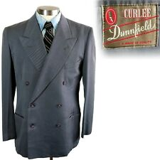 Vintage 1940s 1950s Curlee Double Breasted Suit Jacket 40