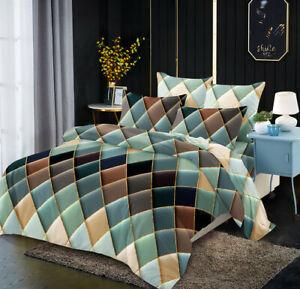Geometric Duvet Cover Comforter Bedding Queen King Bed Linens