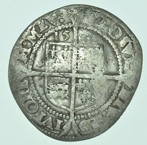 ELIZABETH I SIXPENCE 1567, mm. CORONET, BRITISH SILVER HAMMERED COIN