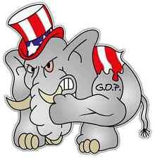 "Republican Party GOP Elephant Car Bumper Window Locker Sticker Decal 4.5""X4.5"""