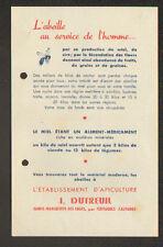 """SAINTE-MARGUERITE-des-LOGES (14) APICULTURE / MATERIEL & ABEILLES """"J. DUTREUIL"""""""