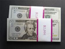 100 pieces USD ,$20 Bills Play Money,Bundle Prop Money Actual Size Magic props