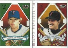 2003 Topps 205 Triple Folder Polar Bear #TF5 Omar Vizquel/Alex Rodriguez - NM-MT