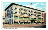 1921 Terminal Building, Akron, OH Postcard