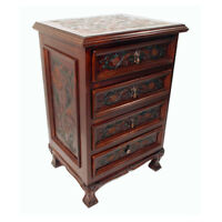 Astoria Grand Tylersburg 4 Drawer Nightstand Set of 2