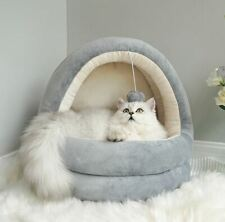 New Warm Pet Dog Cat House Bed Sofa Tent Cushion Mat Removable Kitty Puppy +ball
