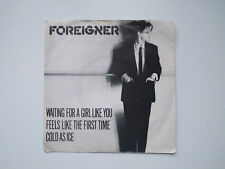 """FOREIGNER - Waiting for a girl like you - 7"""" 45rpm Maxi single - 1981 Atlantic"""