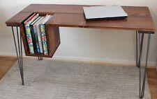 Rustic Vintage Industrial Loft Style Wood Desk Table Metal Hairpin Legs