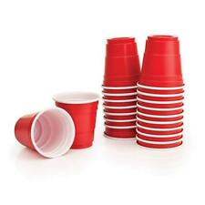 Red Cup Plastic Shot Glasses