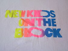 80s VINTAGE NEW KIDS ON THE BLOCK EXTRA LARGE PINK TEE SHIRT 80'S COOL KIDS