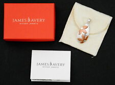 James Avery Sterling Silver + Copper Flowers Pendant  w/ Pouch & Box Retired