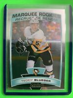 2019-20 OPC Platinum Marquee Rookies #156 Teddy Blueger Pittsburgh Penguins RC