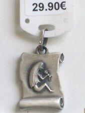 """Pendentif zodiacal """"Vierge"""" en argent forme parchemin ref 52200245 neuf+étiq."""