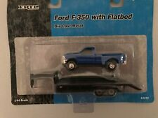 Ford F-350 with Flatbed  # 12272 (blue) 1/64 scale