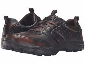 Men's Skechers Montz - Brex Comfort Shoes, 64899 /DKBR Size 8 Dark Brown