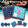 50Pcs Cue Tips For Pool Cue Snooker Billiard Accessories 9MM/10MM/13MM B Grade