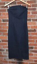 PRADA Denim Strapless Cocktail Dress Size 44