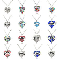 Big Middle Little Sister Crystal Necklace Heart Pendant Jewellry Friend Gift Hot