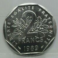 KM# 942 - 2 francs semeuse 1989 - FDC - monnaie France - N2628